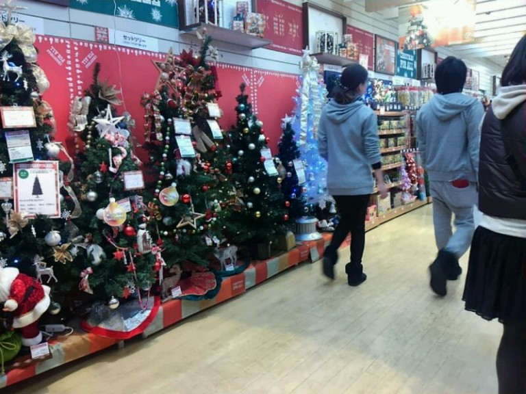 クリスマスツリーコーナー