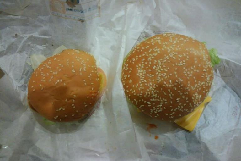ハンバーガー比較