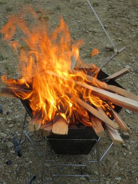 焚き火体験